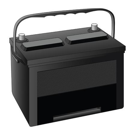 Batteria per auto è un esempio di una batteria da 12 volt usato nelle automobili in nero con spazio per il testo Archivio Fotografico - 29305515