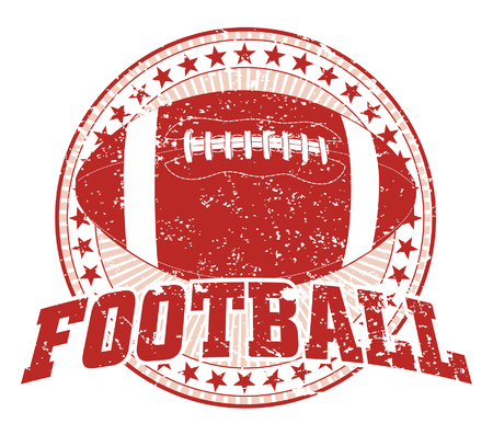 league: Football Design - Vintage is an illustration of a football design in vintage distressed style with a circle of stars Illustration