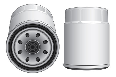 lube: Oil Filter-Automobile is an illustration of an oil filter used in automobile engines such as cars, trucks and vans.
