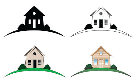 House Home Real Estate Design is an illustration of a design representing a home, house or possibly a real estate business.