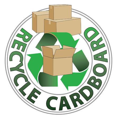 Recycle Card Board Иллюстрация