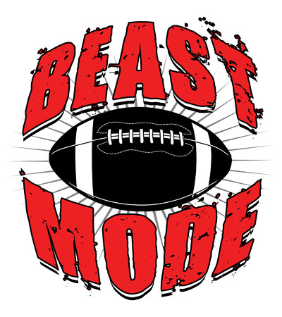 pigskin: Football Beast Mode is an illustration of a football design which includes a football and the words Beast Mode. Illustration
