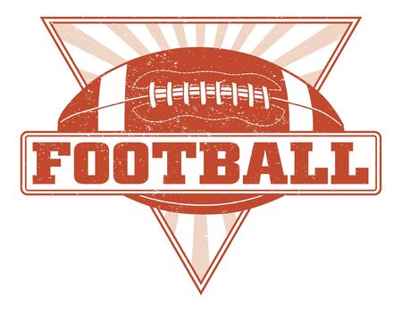 Football Design With Sunburst Triangle is an illustration of a one color football design. Includes a football and a triangle with sunburst. Illustration