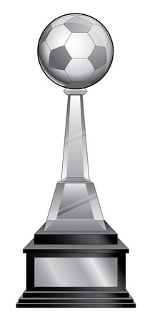 Soccer Trophy - Crystal is an illustration of a soccer trophy with a crystal base. Great for champion designs for print or t-shirts.