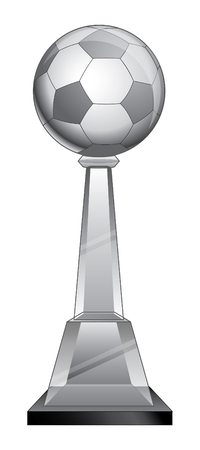 Soccer Trophy - Crystal is an illustration of a soccer trophy with a crystal base.  Ilustrace
