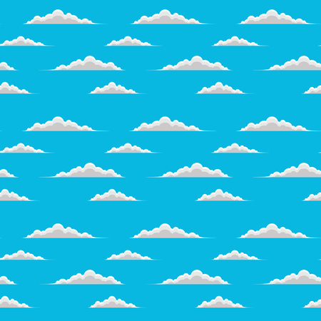 clouds scape: Clouds-Seamless is an illustration of a seamless design of floating clouds. Great for backgrounds and textures.