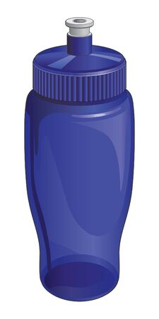 reusable: Water Bottle is an illustration of a reusable plastic water bottle with a open and close spout.