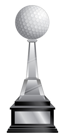 Golf Trophy - Black Base is an illustration of a golf trophy with a crystal and black base. Great for champion designs for print or t-shirts.