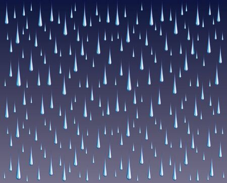 stormy: Raindrops is an illustration of brightly colored raindrops on a dark or stormy gradient background.