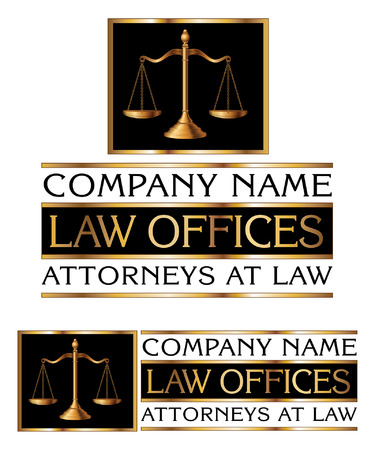 Law Firm Design is an illustration of a full color design that can be used for law offices lawyers or law firms. Ilustração