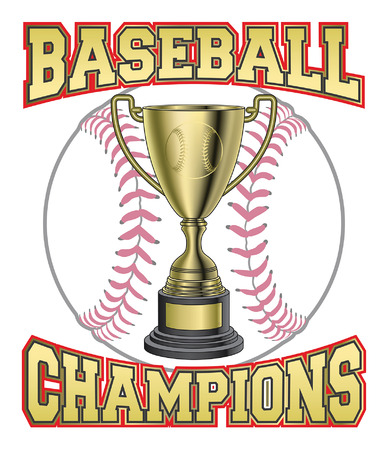 Baseball Champions is an illustration of a design for baseball champions or championship. Includes a trophy baseball in gold and BASEBALL CHAMPIONS text.