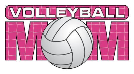 voleibol: Voleibol Mamá es una ilustración de un diseño de Voleibol mamás. Muestre su amor y apoyo con este diseño único de voleibol. Grande para las camisetas y otros artículos.
