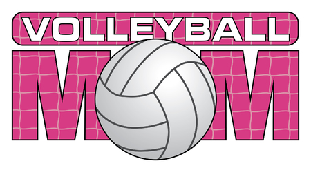 volleyball: Volleyball Mom is an illustration of a design for Volleyball Moms. Show your love and support with this unique volleyball design. Great for t-shirts or other items.