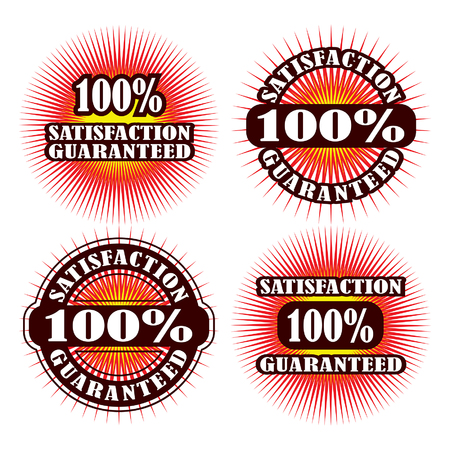 lifetime: Lifetime Warranty Satisfaction Guaranteed is an illustration or graphic of four guarantee and warranty labels or emblems.