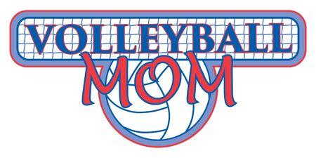 voleibol: Voleibol Mama Con Net Design es una ilustración de un diseño para las mamás de voleibol. Incluye una pelota de voleibol y el texto con el fondo de la red. Grande para las camisetas.