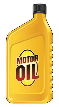 Motor Oil Quart ist eine Darstellung eines gelben Motoröl Behälter Liter Größe. Standard-Bild - 50435597