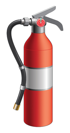 bombero de rojo: Fire Extinguisher is an illustration of a fire extinguisher used in emergencies to put out small fires.