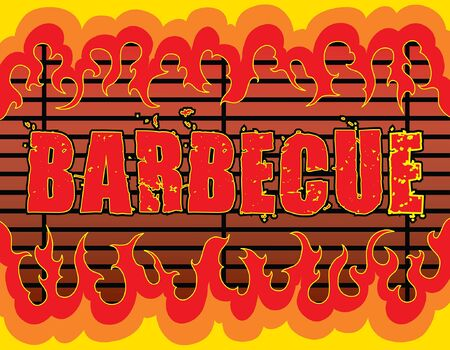 Barbecue With Flames is an illustration of a barbeque or barbecue design with fire or flames that can be used as a template for things such as invites or flyers. Illustration
