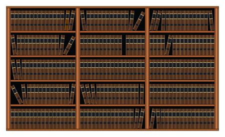 Boekenkast met boeken.