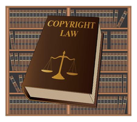 Copyrightwetboek gebruikt door advocaten en rechters Stock Illustratie
