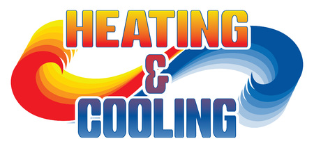 Heating and Cooling illustration for ad, flyers design.