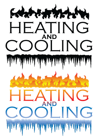 Heating and Cooling Designs is an illustration that can be used for heating and cooling or HVAC companies. Comes in one color and multicolor version. Great for logos, ads, flyers, t-shirts or anything else that you use to promote your business. Illusztráció