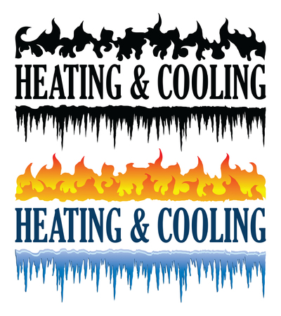Heating and Cooling Emblem is an illustration that can be used for heating and cooling or HVAC companies. Comes in one color and multicolor version. Great for logos, ads, flyers, t-shirts or anything else that you use to promote your business.