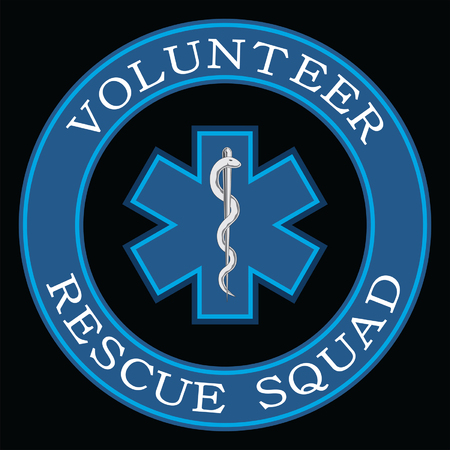 Volunteer Rescue Squad Design is an illustration that can be used to represent rescue volunteer squad crews or members. Just add your name or location. Great for logos, ads, flyers, t-shirts or anything else that you use for promotion or to show your pride.