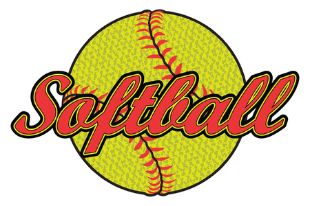 Softball Design with Textured Ball is an illustration of a softball design that can be used by you or your team for t-shirts, flyers, ads, jerseys or any promotional materials. Ilustrace