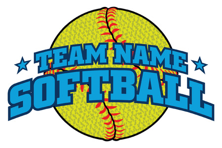 Textured Softball Team Design is an illustration of a softball design with a space for your team name. Can be used by you or your team for t-shirts, flyers, ads, jerseys or any promotional materials. Ilustração