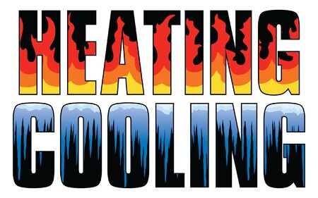Heating & Cooling - Fire and Ice is an illustration is an illustration that can be used for heating and air or HVAC companies. Great for logos, ads, flyers, t-shirts or anything else that you use to promote your business.