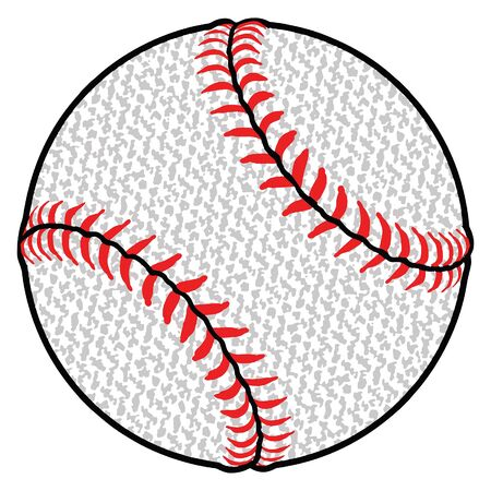Textured Baseball is an illustration of a stylized flat color or spot color baseball. Uses four colors that are each it's own object for easier editing. Ilustração