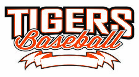 Tigers Baseball Design With Banner is a team design template that includes a tigers baseball text and a blank banner with space for your own information. Great for advertising and promotion for teams or schools.