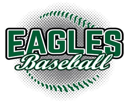 Eagles Baseball Design is a team design template that includes a baseball graphic and overlaying text. Great for advertising and promotion for teams or schools.