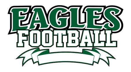 Eagles Football With Banner is a team design template that includes text and a blank banner with space for your own information. Great for advertising and promotion for teams or schools.
