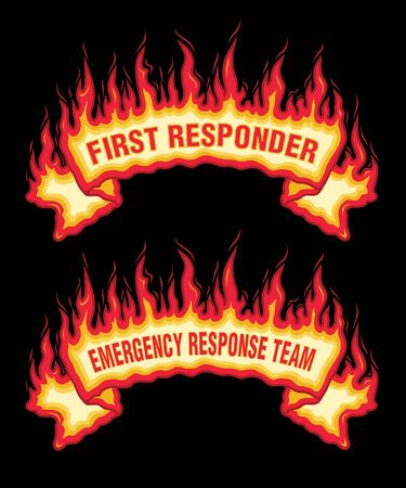 First Responder Fire Flames Banner
