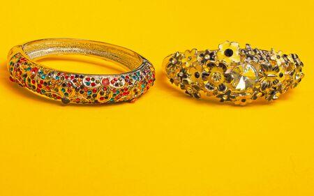 costume jewelry: Costume jewelry ornamental decorated bracelets