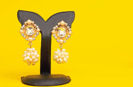 costume jewelry: Costume jewelry ornamental decorated ear rings