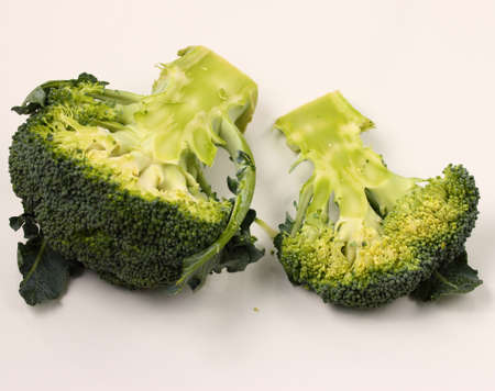 broccolli: isolated broccolli on a white background Stock Photo