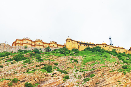 halted: This fairy tale like fort was built in 1734 by Maharaja Sawai Jai Singh II. The construction of the fort was halted numerous times due to a haunting by the ghost of Nahar Singh Bhomia. The ghost and haunting stopped after the spirit was pacified by buildi