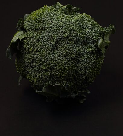 broccolli: isolated broccolli on a black background