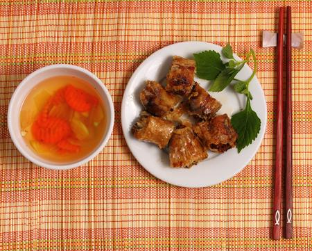 cha: Bun Cha, traditional Vietnamese food