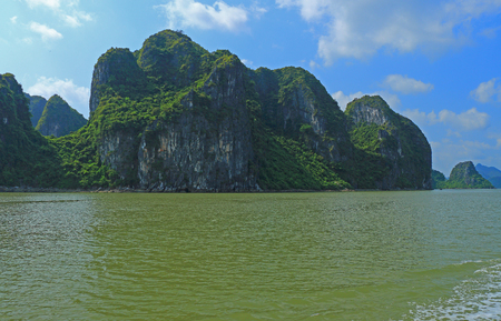long bay: ha long bay cat ba islands and rock formations vietnam