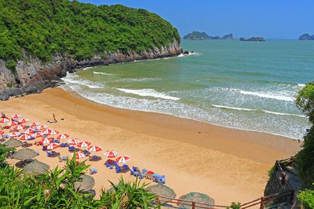 cat ba cat coi cat co beach ha long bay vietnam Stock Photo