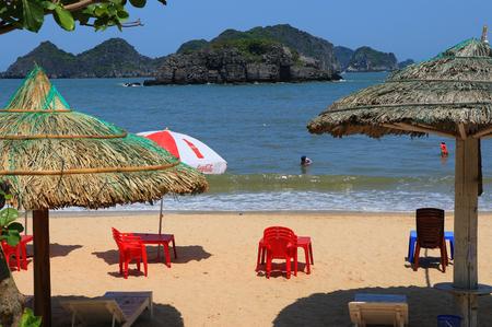 coi: cat ba cat coi cat co beach ha long bay vietnam Stock Photo
