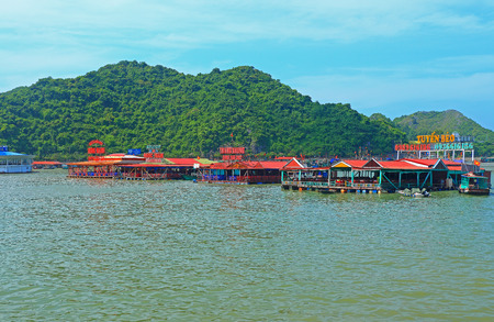 ba: cat ba bay floating restaurants vietnam