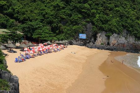 coi: cat ba cat coi cat co beach ha long bay vietnam Editorial