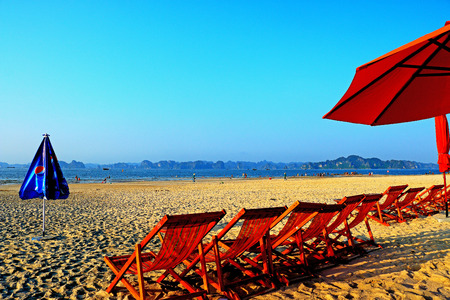 ha: a view of ha long bay beach Vietnam