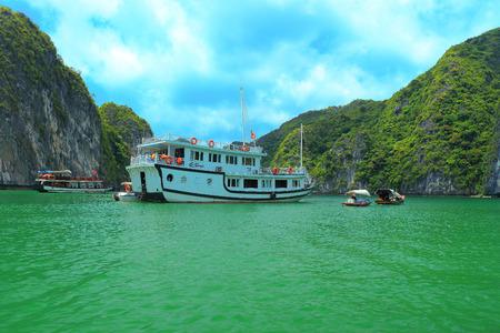 ba: ha long bay cat ba islands and rock formations Editorial