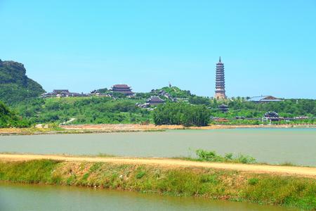 trang: Bai Dinh Temple complex  trang an hao lu ninh binh Stock Photo